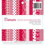 American Crafts - Christmas - 6 x 6 Paper Pad - Crimson