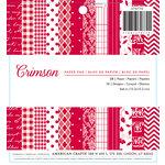 American Crafts - Christmas - 6 x 6 Paper Pad - Crimson