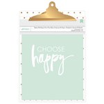 American Crafts - 9 x 12.5 Clipboard with Print - Gold Dots