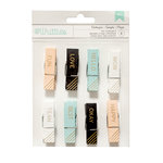 American Crafts - Clothespins - Words 2 - Gold
