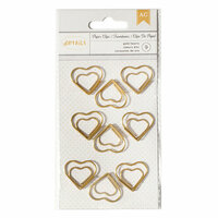 American Crafts - Paper Clips - Gold Hearts