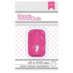 American Crafts - Knock Outs - Mini Punch - Baby Foot - .375 Inch