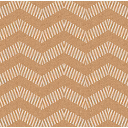 American Crafts - DIY Shop 3 Collection - 12 x 12 Kraft Paper - White Chevron