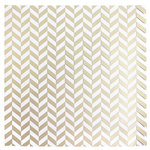 American Crafts - DIY Shop 3 Collection - 12 x 12 Acetate Paper with Foil Accents - Herringbone