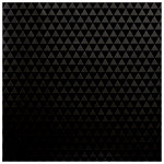 American Crafts - DIY Shop 3 Collection - 12 x 12 UV Paper - Black - Triangles