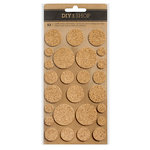 American Crafts - DIY Shop 3 Collection - Cork Stickers - Circles