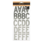 American Crafts - DIY Shop 3 Collection - Cardstock Stickers with Foil Accents - Alphabet