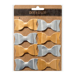 American Crafts - DIY Shop 3 Collection - Pleather Bows - Gold and Silver