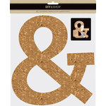 American Crafts - DIY Shop 3 Collection - 3 Dimensional Ampersand - Cork - 10 Inch