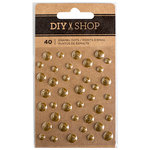 American Crafts - DIY Shop 3 Collection - Enamel Dots - Gold