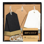 American Crafts - DIY Shop 3 Collection - Gift Tag Set - Chalkboard and Foil