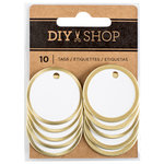 American Crafts - DIY Shop 3 Collection - Metal Circle Tags
