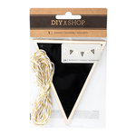 American Crafts - DIY Shop 3 Collection - Banners with Foil Accents - Chalkboard