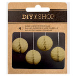 American Crafts - DIY Shop 3 Collection - Gold Honeycomb Balls