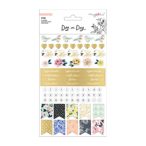 Maggie Holmes - Day to Day Planner Collection - Phrase Sticker Book with Foil Accents