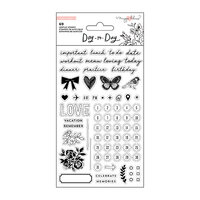 Crate Paper - Day to Day Planner Collection - Clear Acrylic Stamps