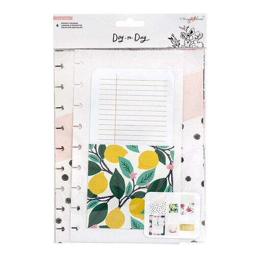Maggie Holmes - Day to Day Planner Collection - Pocket Folders - Note Pages with Foil Accents