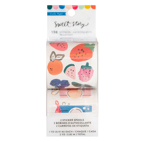 Crate Paper - Sweet Story Collection - Roll - Stickers