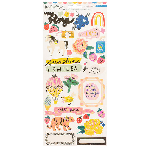Crate Paper - Sweet Story Collection - 6 x 12 Sticker Sheet