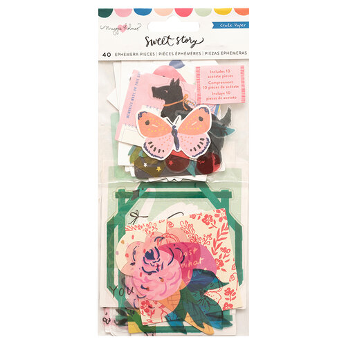 Crate Paper - Sweet Story Collection - Acetate Ephemera Pack