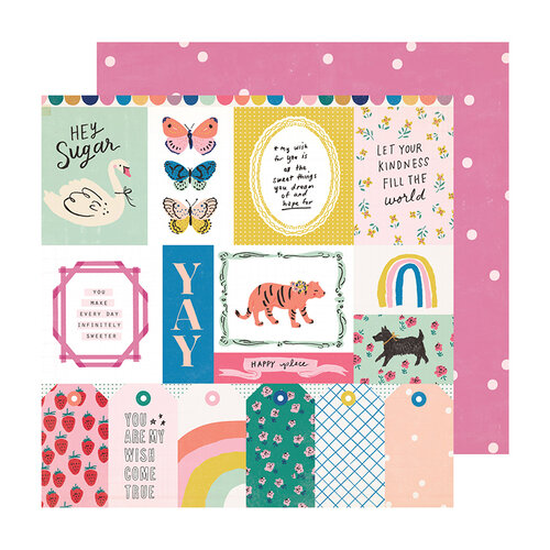 Crate Paper - Sweet Story Collection - 12 x 12 Double Sided Paper - Sweet Treat
