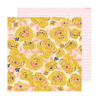 Crate Paper - Sweet Story Collection - 12 x 12 Double Sided Paper - Buttercup