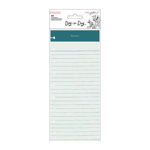 Maggie Holmes - Day to Day Planner Collection - Double Sided Note Pad - Notes and Meal Plan