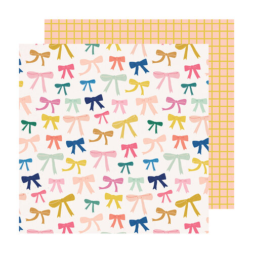 Crate Paper - Sweet Story Collection - 12 x 12 Double Sided Paper - Ponytail