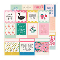 Crate Paper - Sweet Story Collection - 12 x 12 Double Sided Paper - Confection