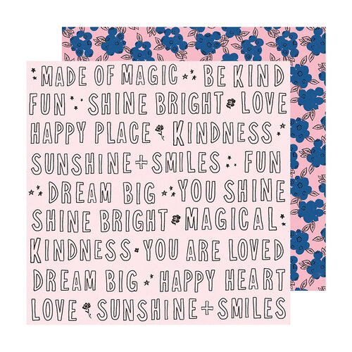 Crate Paper - Sweet Story Collection - 12 x 12 Double Sided Paper - Kindness