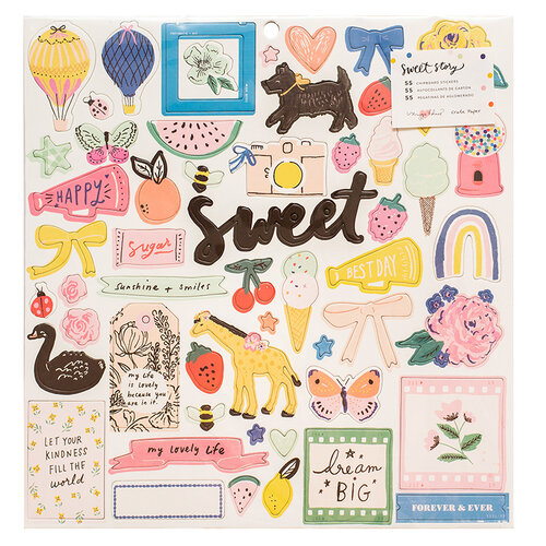 Crate Paper - Sweet Story Collection - 12 x 12 Chipboard Stickers