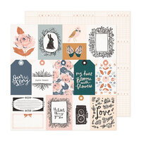 Crate Paper - Fresh Bouquet Collection - 12 x 12 Double Sided Paper - Charmed
