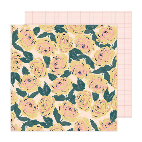 Crate Paper - Fresh Bouquet Collection - 12 x 12 Double Sided Paper - Blooming