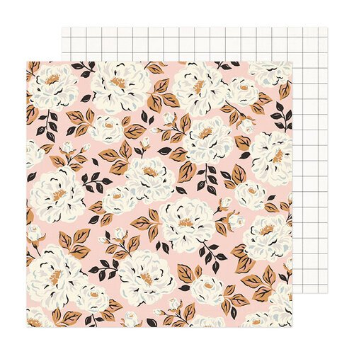 Crate Paper - Fresh Bouquet Collection - 12 x 12 Double Sided Paper - Flora