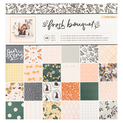 Crate Paper - Fresh Bouquet Collection - 12 x 12 Paper Pad