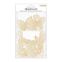 Crate Paper - Fresh Bouquet Collection - Wood Veneer with Gold Finish