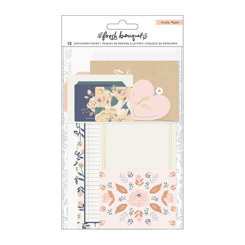 Crate Paper - Fresh Bouquet Collection - Cards and Envelopes - Stationery Pack with Gold Foil Accents