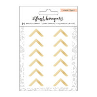 Crate Paper - Fresh Bouquet Collection - Photo Corners - Gold
