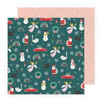 Crate Paper - Hey Santa Collection - 12 x 12 Double Sided Paper - Christmas Magic