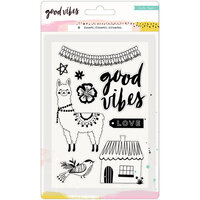 Crate Paper - Clear Acrylic Stamps - Good Vibes