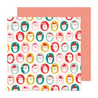 Crate Paper - Hey Santa Collection - 12 x 12 Double Sided Paper - Ho Ho Ho