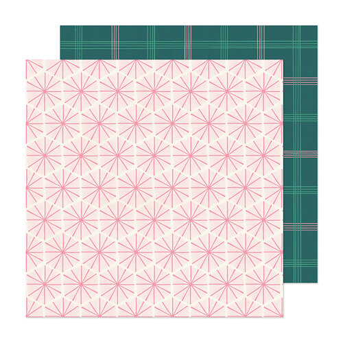 Crate Paper - Hey Santa Collection - 12 x 12 Double Sided Paper - Peppermint