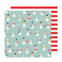 Crate Paper - Hey Santa Collection - 12 x 12 Double Sided Paper - North Pole