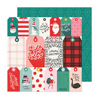 Crate Paper - Hey Santa Collection - 12 x 12 Double Sided Paper - Be Jolly
