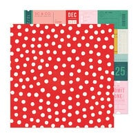 Crate Paper - Hey Santa Collection - 12 x 12 Double Sided Paper - Very Merry