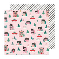 Crate Paper - Hey Santa Collection - 12 x 12 Double Sided Paper - City Sidewalks