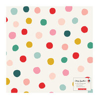 Crate Paper - Hey Santa Collection - 12 x 12 Specialty Paper - Printed Vellum - Gumdrop