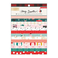 Crate Paper - Hey Santa Collection - 6 x 8 Paper Pad with Foil Accents