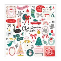 Crate Paper - Hey Santa Collection - 12 x 12 Chipboard Stickers