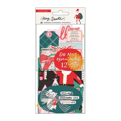 Crate Paper - Hey Santa Collection - Ephemera
